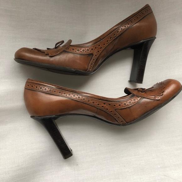 Nine West Shoes - Nine West Brown Tassel Heeled Loafers Size 10
